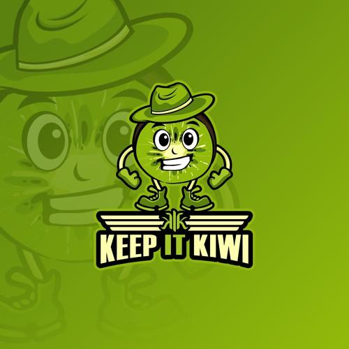 kiwi mascot logo