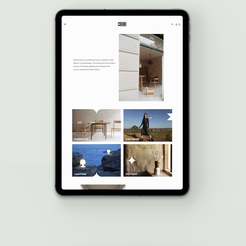Webshop for a concept shop. Copenhagen, Denmark