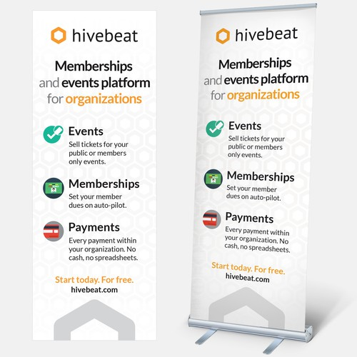 hivebeat roll up banner startup