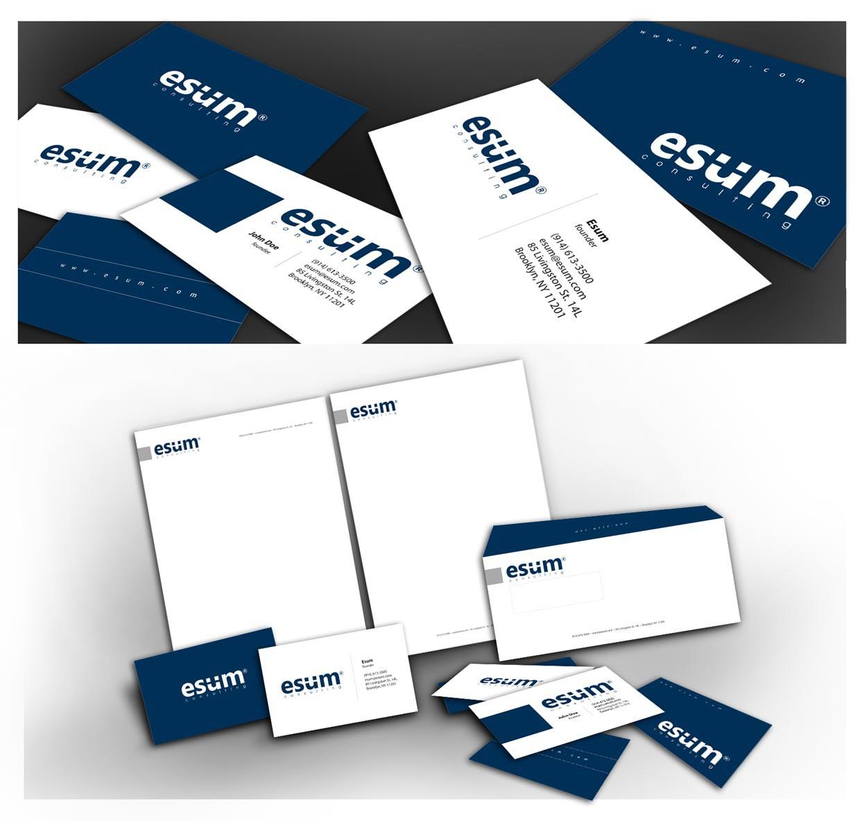 Create the next logo and stationary for Esum