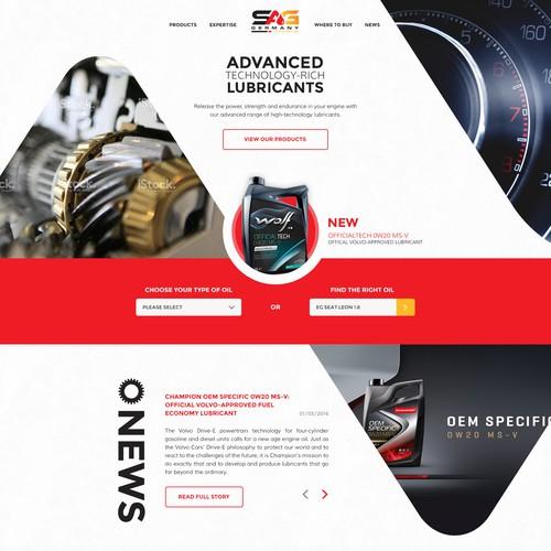 Bold, modern design for motor oil company