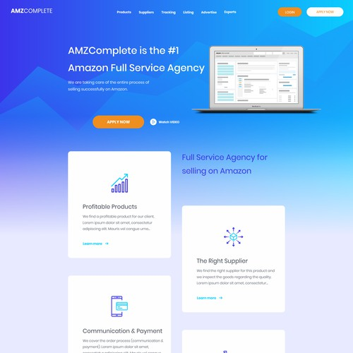 Website design for Amazon Agency