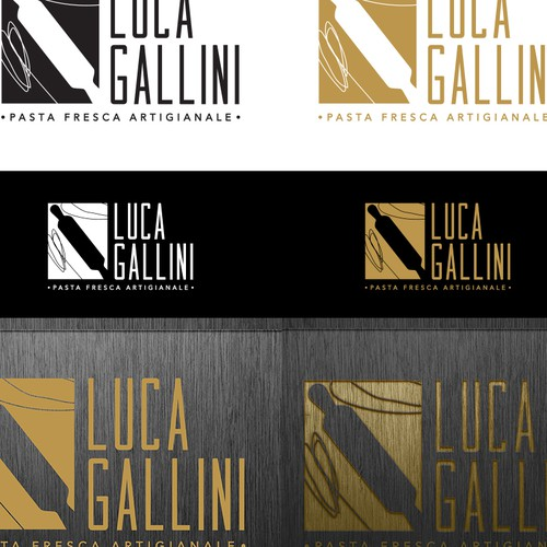 simple, elegant but communicative logo for fresh pasta classes.