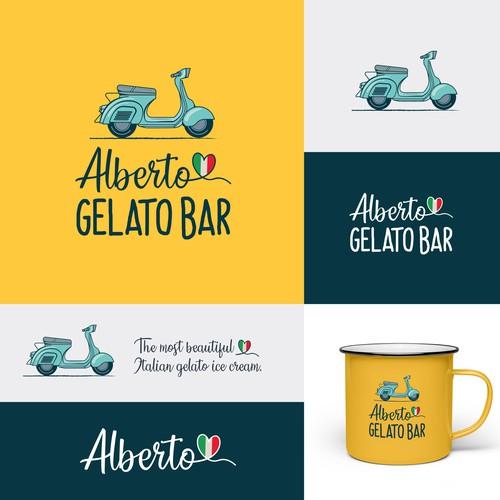 Logo design for Italian gelato bar