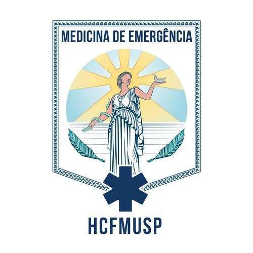 medical residency university hospital logo concept