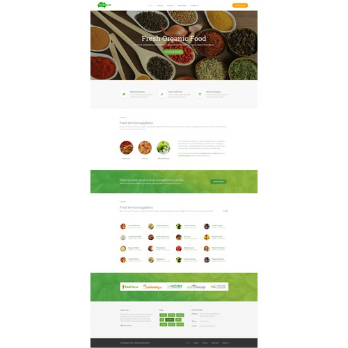 Fresh Organic Food website design