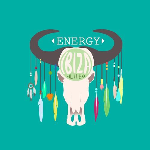 Ibiza Life Energy drink package logo