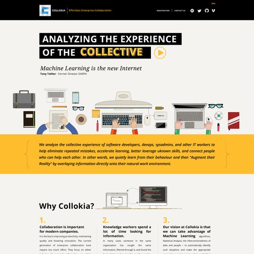 Collokia home page web redesign
