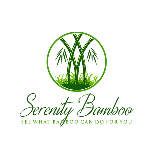 Bamboo inspired Logo for serenity bamboo