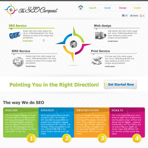 Create the next website design for The SEO Compass