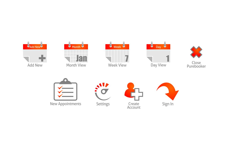 button or icon for Purebooker