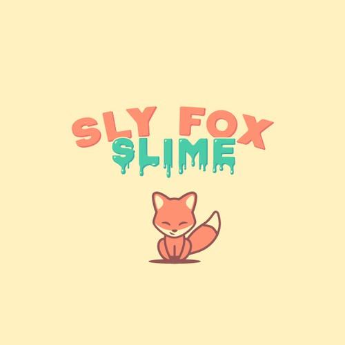 Sly Fox Slime logo design concept