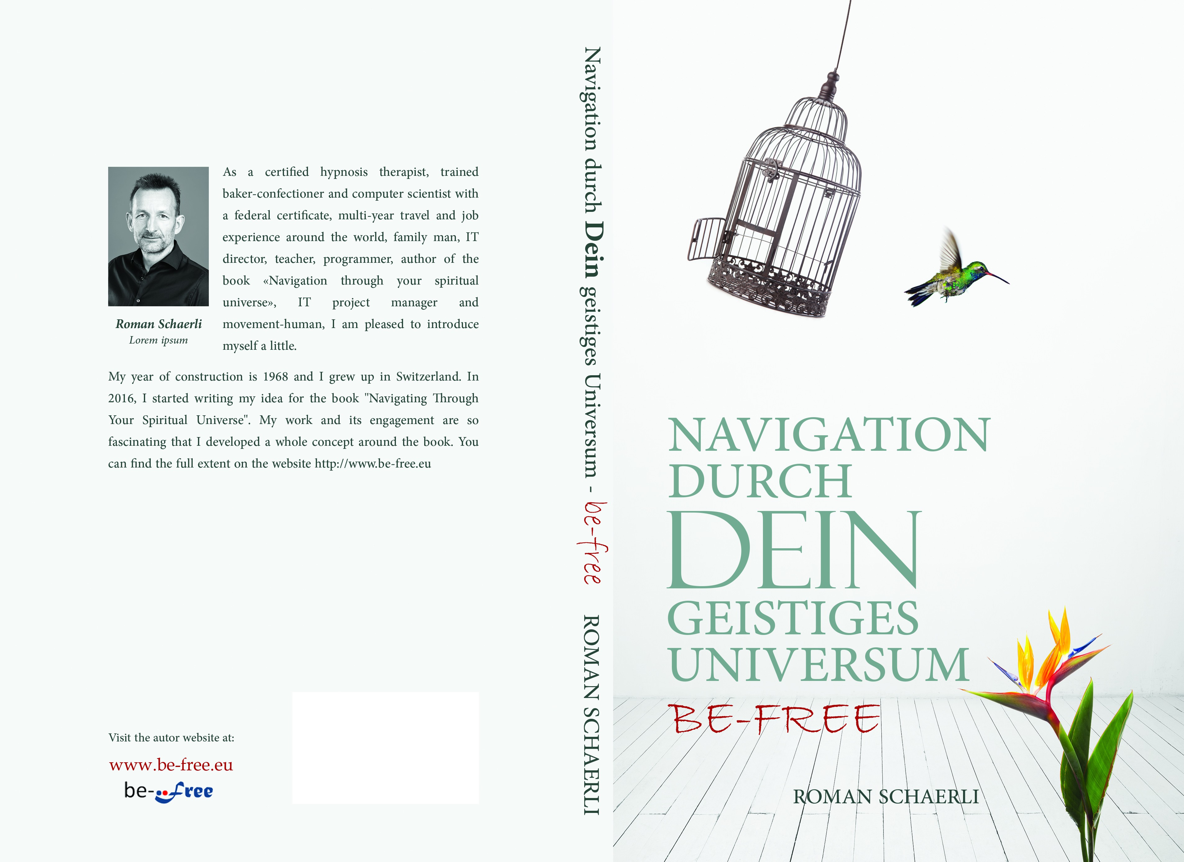 """Create a simple, impressive book cover for the title """"Navigation through your spiritual universe"""""""