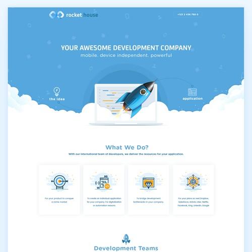 Rocket House Website Design