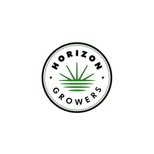Simple and fresh logo for Horizon Growers