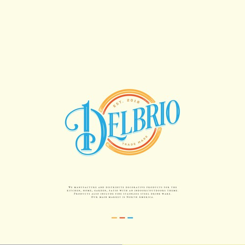 Classic beachy feel logo for a retail company