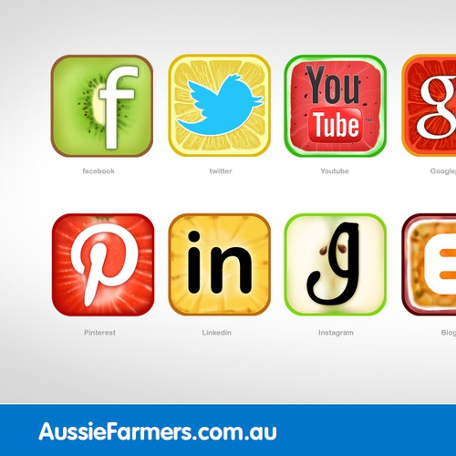 Exciting New Social Media Icons Required for Aussie Farmers Direct