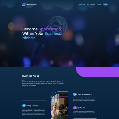 Spokesman website design