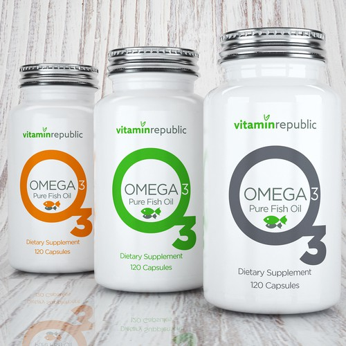 a clean, minimalist and modern label design for our supplement brand