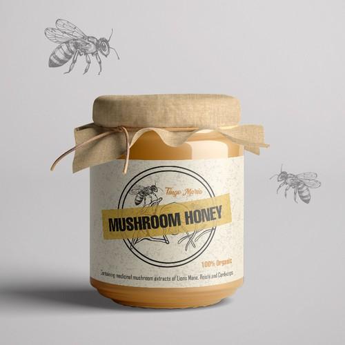 Label for mushroom honey