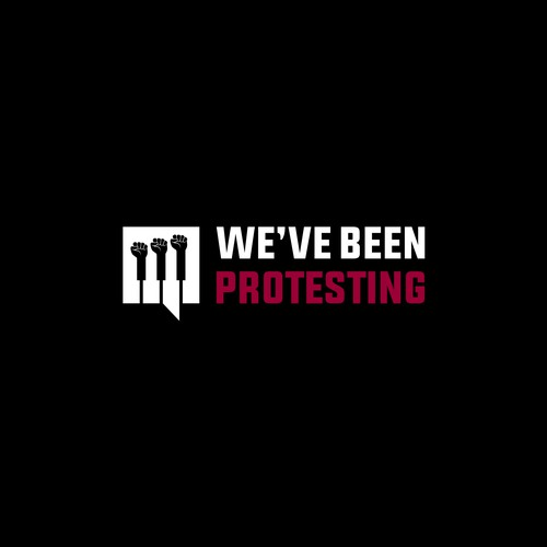iconic logo for weve been protesting site