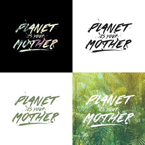 Concept de logo Planet Is Your Mother