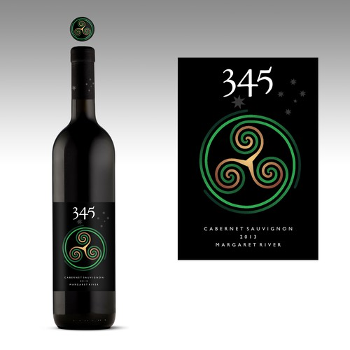 Create a striking WINELABEL for Australian Cabernet.