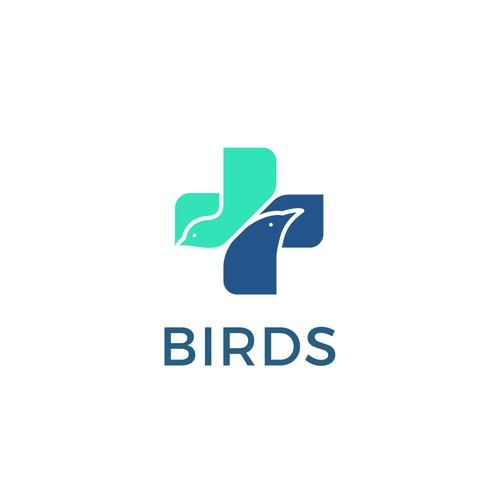 Birds medical logo concept
