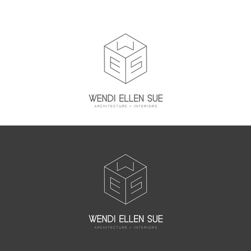 Simple minimal logo for an architect