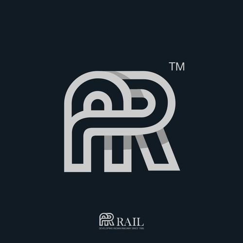The initials logo for railway company