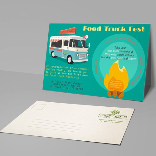 Food Truck Fest Post Card