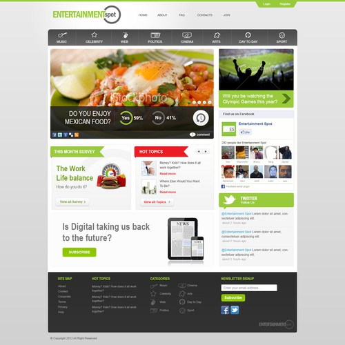 Entertainment Spot Web Design
