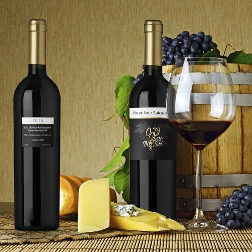 Wine label Pinot Noar