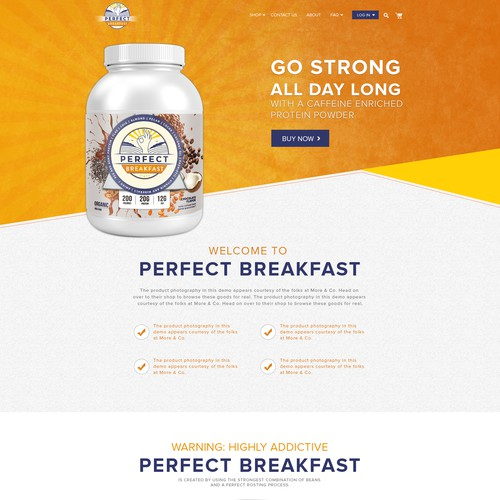 Website Design for Perfect Breakfast