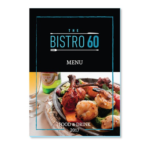 The Bistro 60 Modern Menu Design