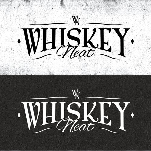 Clean rugged whiskey logo