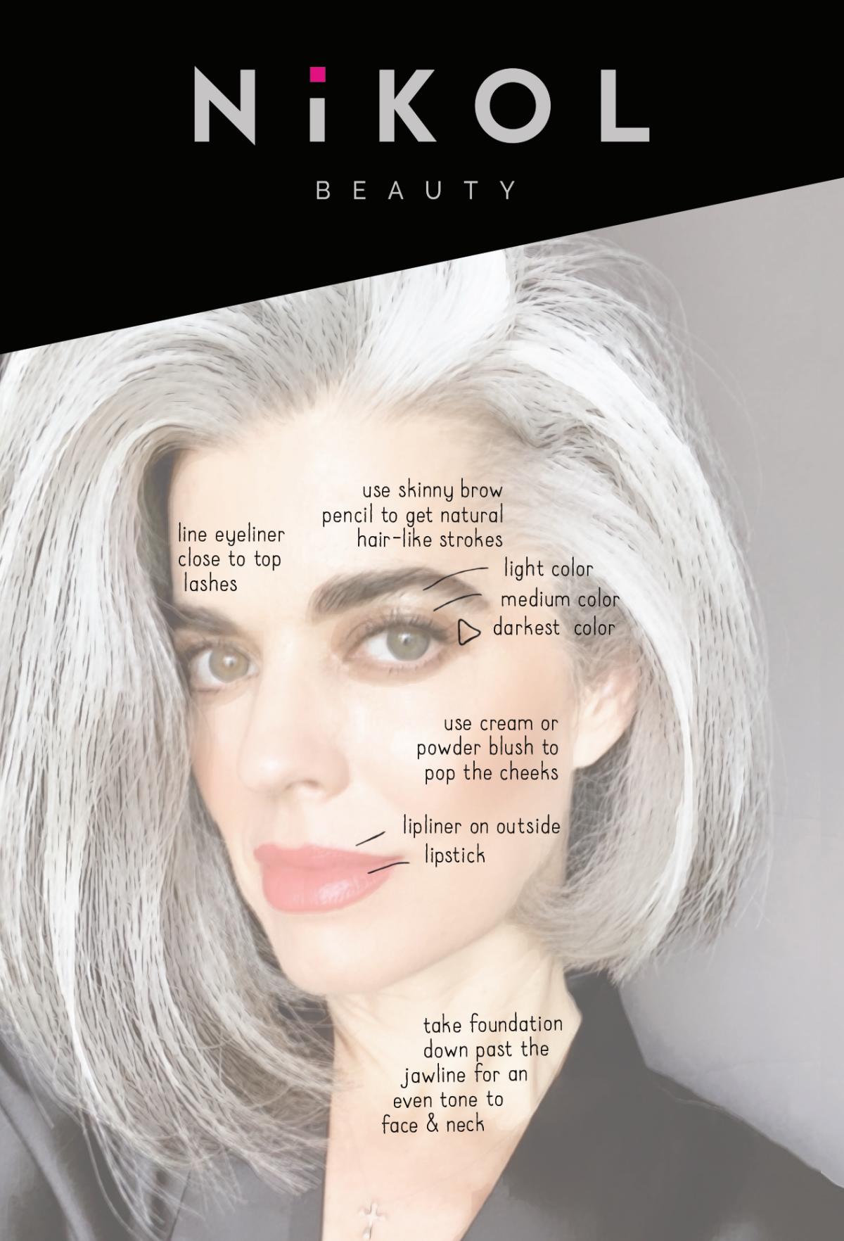 Helpful makeup tutorial card