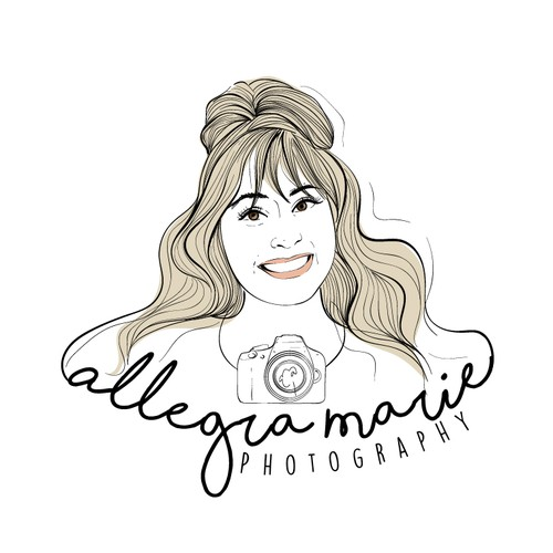 Portrait logo illustration for photography business