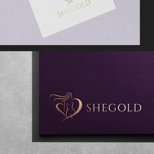 """""""SheGold"""" - Logo concept for a Digital workout program for women 50 years and older"""
