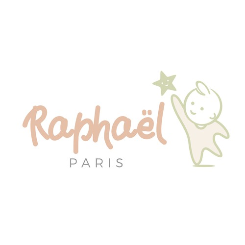 logo for raphael baby stuff