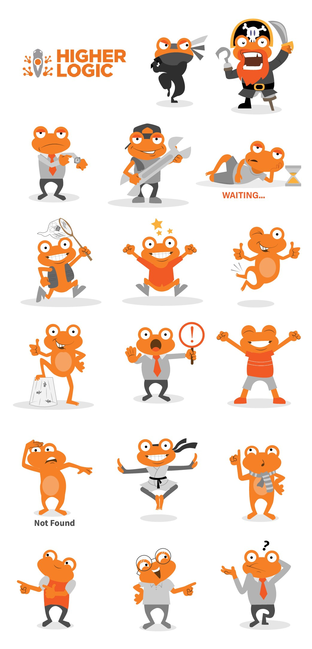 Frog with personality illustration for product pop-ups