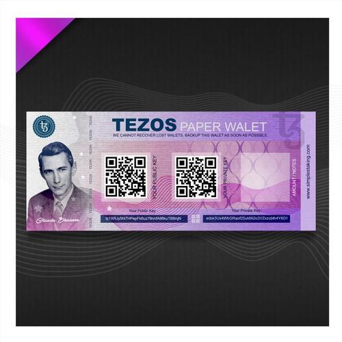 Tezos Paper Walet for www.simplestalking.com