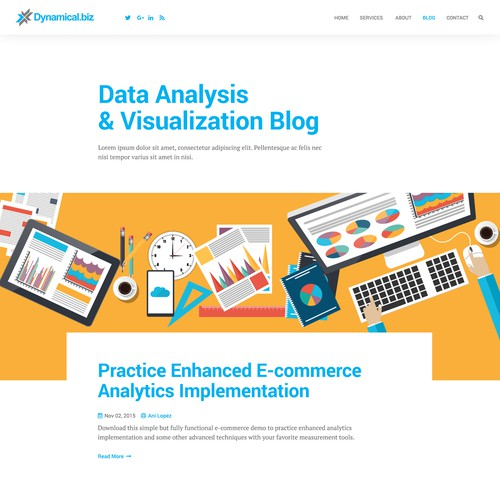 Blog concept for Dynamical.biz