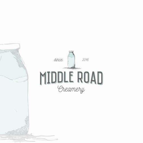 Hand drawn look for a small creamery