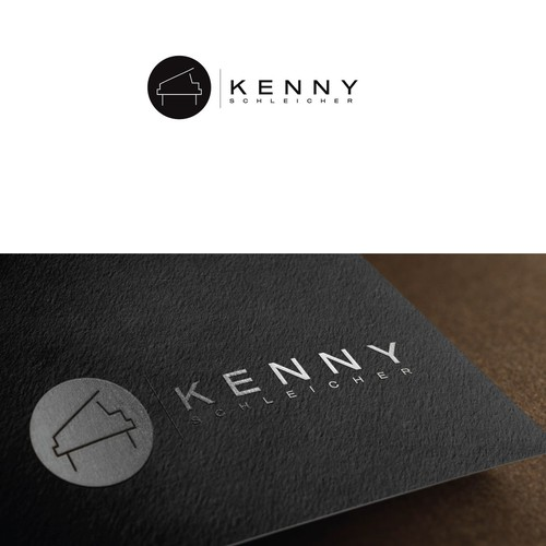 Logo concept for a creative pianist from NH