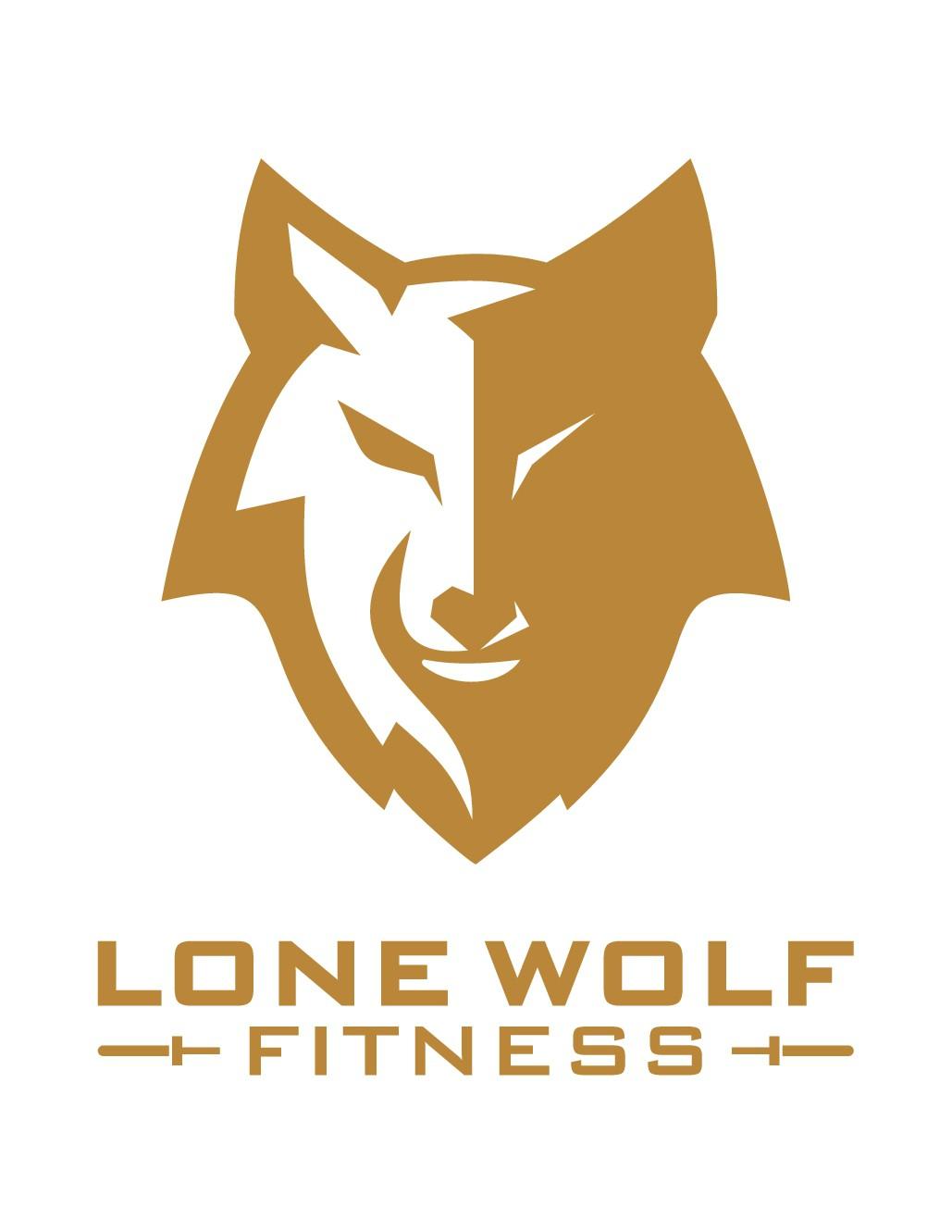 Minimalist wolf design for home gym