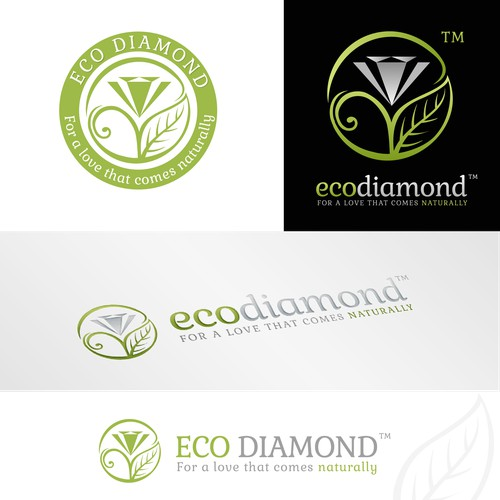 Create a logo for the new Eco-Diamond.com a revolutionary diamond site!