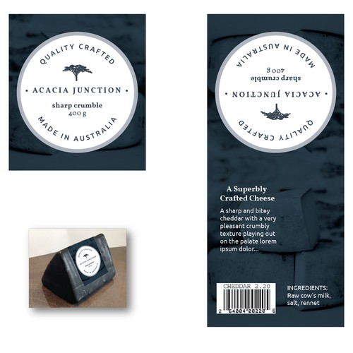 Boutique Cheese Label