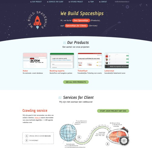 Website Design for www.webuildspaceships.com