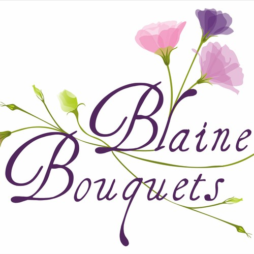 Create a fun colorful elegant logo for Blaine Bouquets
